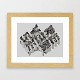 Stuck in Reverse Framed Art Print