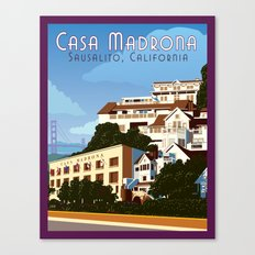 Casa Madrona Canvas Print