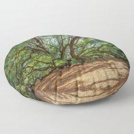 Angel Oak - Ancient Tree on Johns Island South Carolina Floor Pillow