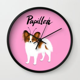 Papillon (Pink) Wall Clock