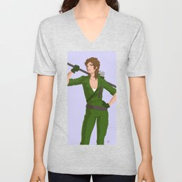 Retro Lady Jaye Unisex V-Neck