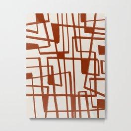 Minimalist Lines Modern Decor Metal Print