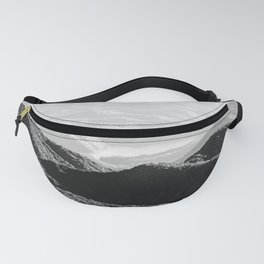Smoky Mountain Black and White Forest Sunset - 125/365 Fanny Pack
