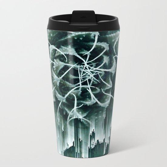 Succulent Glitches Metal Travel Mug