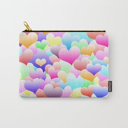 Bubble Hearts Light Carry-All Pouch