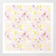 Yellow Birds Art Print