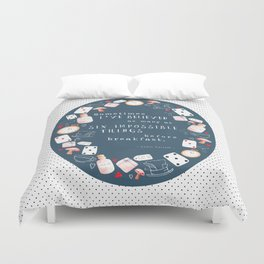 Alice in Wonderland - Six Impossible Things Duvet Cover