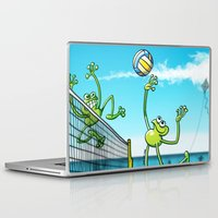 volleyball Laptop & iPad Skins featuring Olympic Volleyball Frog by Zoo&co on Society6 Products