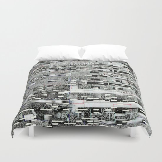 Highly Resolved Ghost (P/D3 Glitch Collage Studies) Duvet Cover