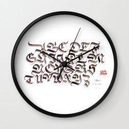 Double Trase Fraktur Schrift Wall Clock