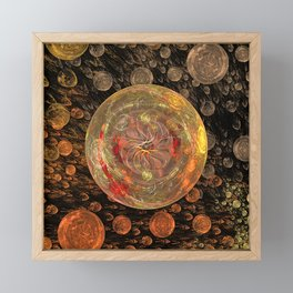 Orange Bubble Framed Mini Art Print