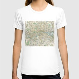 Vintage Map of London England (1900) T-shirt