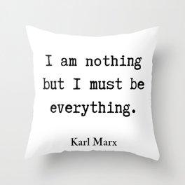 6     Karl Marx Quotes   190817 Throw Pillow