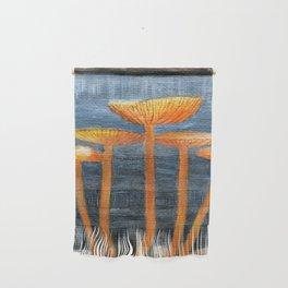 Tangerine Fungi by Teresa Thompson Wall Hanging