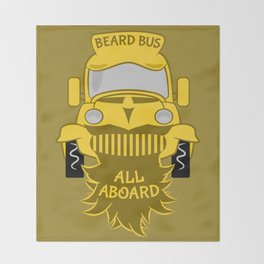 Beard Bus Throw Blanket