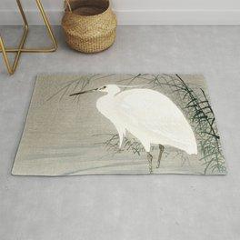 Ohara Koson - Little egret Rug