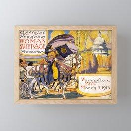 Women's March On Washington, Votes For Women, Women's Suffrage Framed Mini Art Print