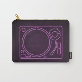 Neon Turntable 1 - 3D Art Carry-All Pouch