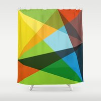 kaleidoscope Shower Curtains featuring Kaleidoscope by Marina Design