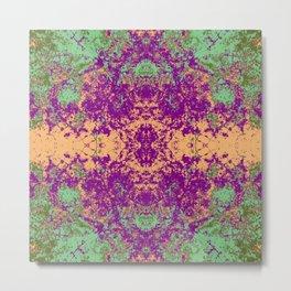 Faulah - Abstract Decorative Boho Chic Tie-Dye Style Art Pattern Metal Print