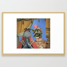 Queen Artichoke and King Flower Pot Framed Art Print