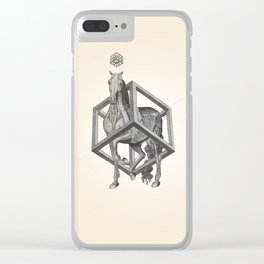 Caged Horse Clear iPhone Case