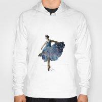 ballerina Hoodies featuring Ballerina  by Kelly Baskin