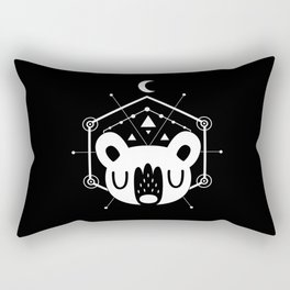 Moon Bear White Rectangular Pillow