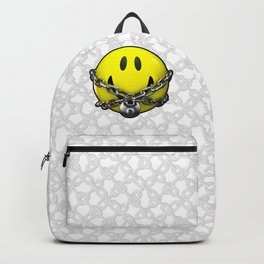 Quit Your Grinning / 3D chained up smiley Backpack