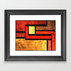 Red Yellow Orange Framed Art Print
