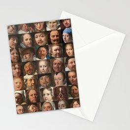 Faces of the Golden Age - Collage of portraits of Dutchmen Stationery Cards