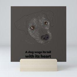 Tail Wagging Mini Art Print