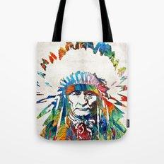 Native American Art - Chief - By Sharon Cummings Tote Bag