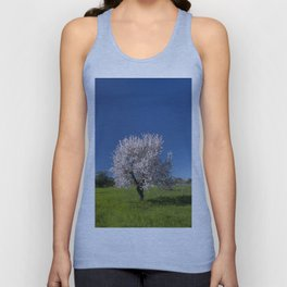 Solitary almond tree in Portugal Unisex Tank Top