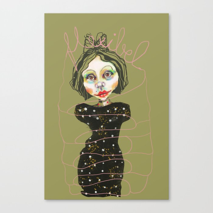 flexible girl Canvas Print