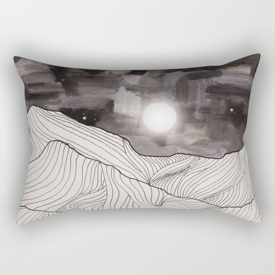 Lines in the mountains III Rectangular Pillow