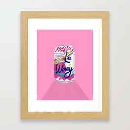 La Worry Framed Art Print