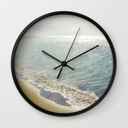beauty and the beach Wall Clock