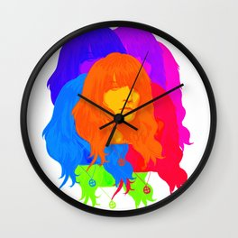 A falling star Wall Clock