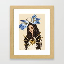 """The seven sorrows of Lana"" Framed Art Print"