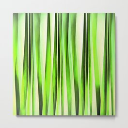 Eternal Evergreen Stripy Pattern Metal Print