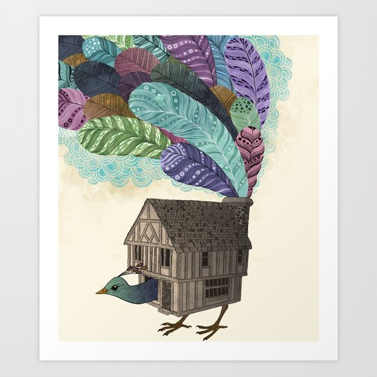 birdhouse revisited Art Print