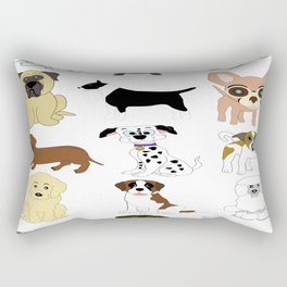 Pet dogs design Rectangular Pillow