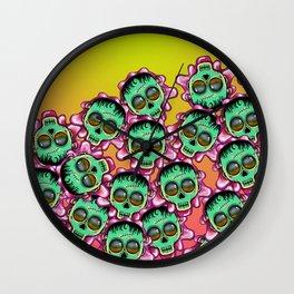 Cute Skulls Franky Wall Clock