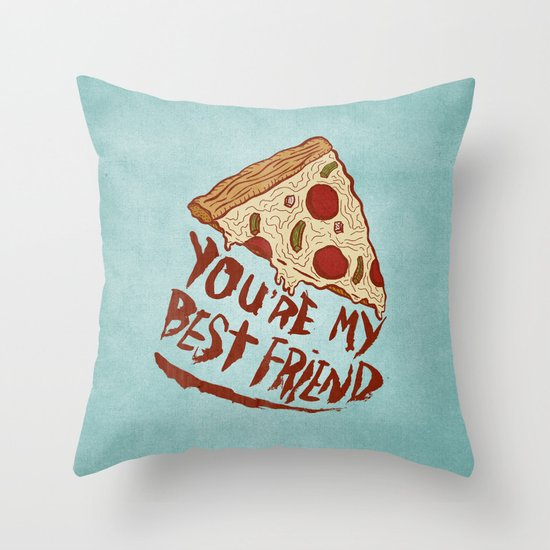 P-I-Z-Z-A Throw Pillow