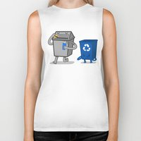 junk food Biker Tanks featuring Junk Food Diet by Jake Friedman