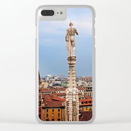 Looking Over Milan Clear iPhone Case