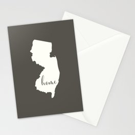 New Jersey is Home - White on Charcoal Stationery Cards
