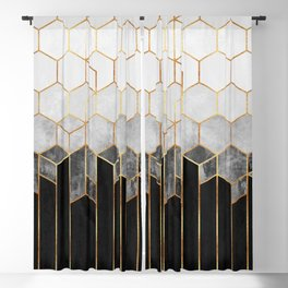Charcoal Hexagons Blackout Curtain