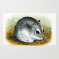 hamster Area & Throw Rugs featuring Hamster 25 by ArtbyLucie